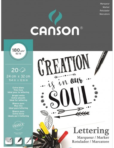 Bloc p/ Lettering 20H A4 180G, CANSON