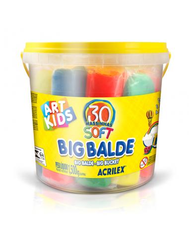 Big Balde 30 Masisnhas Soft, Acrilex