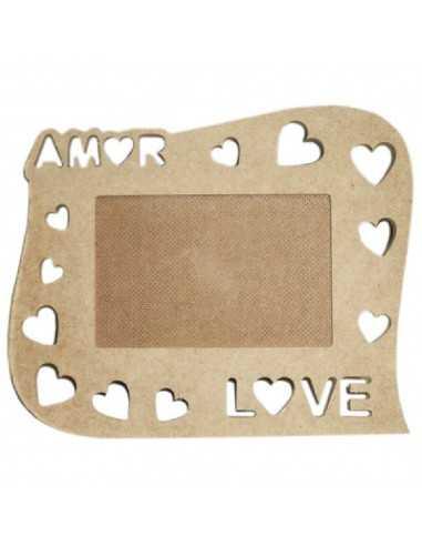 Porta retrato Love corazones