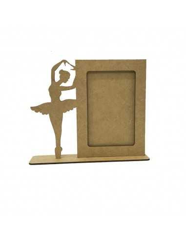 Porta retrato láser bailarina 22x5x18 cm