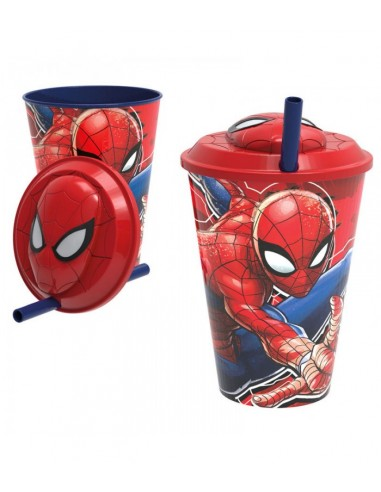 Vaso 3D con pajita SPIDERMAN.