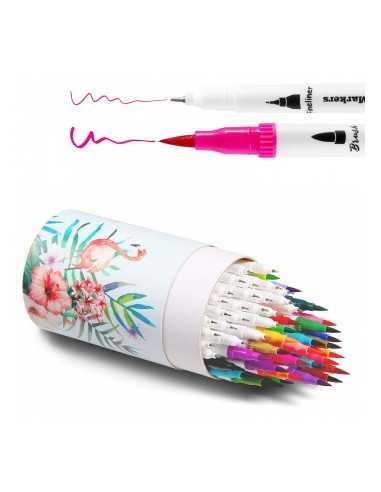 Marcadores de color Brush Fineliner...