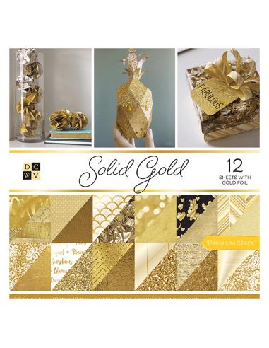 Bloc de papel - Solid Gold (30.5cm x...