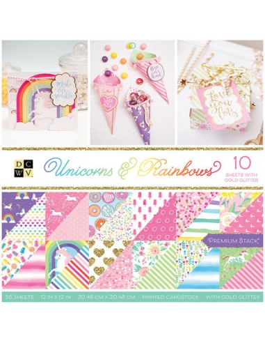 Block de papel- Diseño Unicorns &...